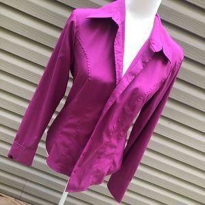 Express dress shirt button up button down pink